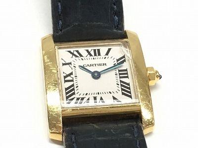 カルティエ タンクフランセーズ買取 750 ガラス割れてもOK 時計売るならMARUKA心斎橋店
