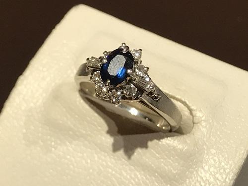 サファイア 指輪  ダイヤ リング 宝石 買取 京都 四条 烏丸 河原町