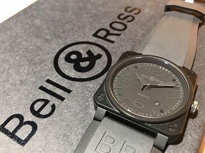 ベル&ロス買取 ファントム BR03-92-S SS×ラバー 時計買取 渋谷 宮益坂