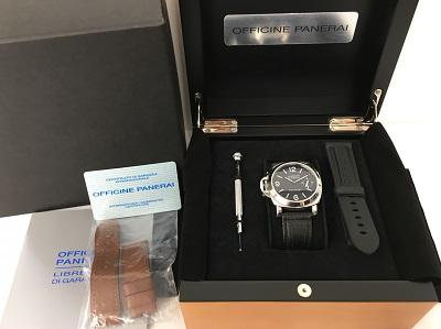 パネライ 買取 ルミノール マリーナ レフトハンド PAM00115 SS×革ベルト 時計買取 宅配買取 手数料無料