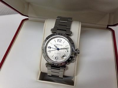 カルティエ買取 パシャC メリディアン W31029M7 時計買取 銀座 有楽町 日比谷