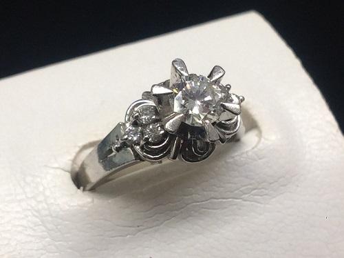 ダイヤモンド買取 Pt900 0.493ct 0.12ct 5.8g 宝石 神戸三宮 買取