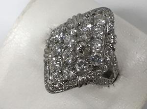 ダイヤモンド買取 リング PT900 10.0g 総ダイヤ 2.00CT 銀座渋谷高価買取中!ダイヤモンド売るなら・・・