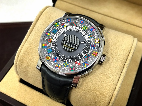 ルイヴィトン買取 時計買取 エスカルタイムゾーン Q5D2D ブランド 買取 京都 中京区 四条 大宮 西院