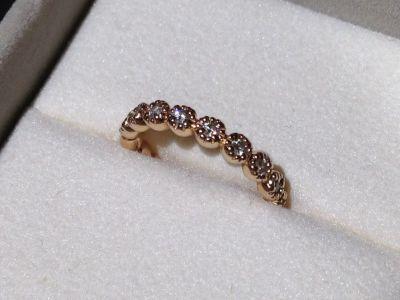 ポンテヴェキオ ダイヤモンドリング イエローゴールド 付属品:ボックス