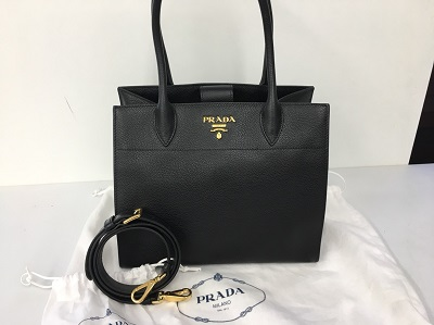 プラダ 2WAYバッグ レザー買取 ブランドバッグ ブラック買取なら姫路市 加古川市からも来店可能MARUKAへ