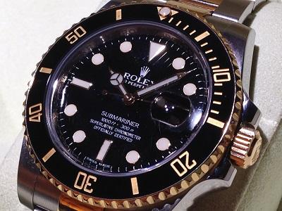 ロレックス サブマリーナーRef.116613LN ランダム品番 黒文字盤 銀座・有楽町・新橋で時計買取