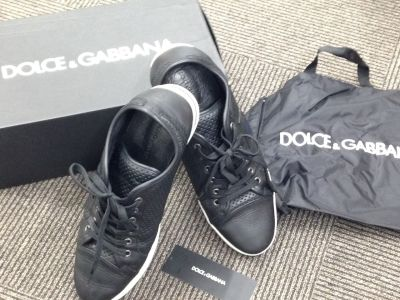 ドルガバ(DOLCE&GABBANA) スニーカー ブラック レザー 中古 渋谷 買取
