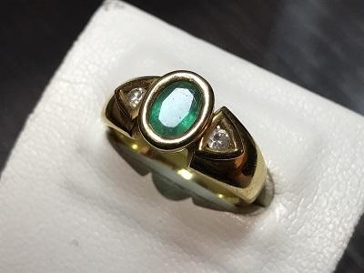 宝石 エメラルド 指輪 リング ダイヤモンド 買取 京都 四条 烏丸 河原町