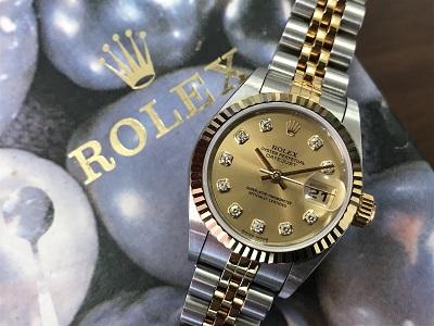 ロレックス デイトジャスト  時計買取 79173G レディース買取なら 北区 三木市 からも来店 中央区のMARUKA