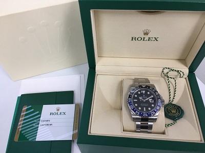 ロレックス 買取 116710BLNR ランダム GMTマスター2 宅配買取 静岡県 ブランド時計 買取 無料