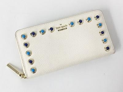 ケイトスペード ラウンドファスナー 長財布買取 レザー ホワイト買取なら 神戸市 中央区のMARUKA