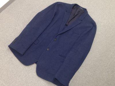 エンポリオアルマーニ(EMPORIO ARMANI) テーラードジャケット コットン ネイビー ♯56 中古品 渋谷 買取