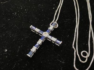 サファイア/ダイヤモンド クロスペンダント買取 大阪で宝石売るならやっぱりMARUKA心斎橋店