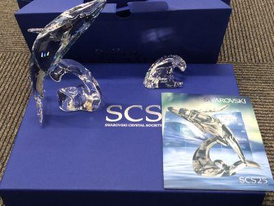 スワロフスキークリスタル 置物 クジラ ドラゴン 2012年限定モデル 銀座渋谷新橋有楽町新橋