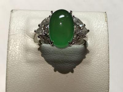 ヒスイ(翡翠 JADE)ロウカン 指輪 リング ジュエリー 宝石 ダイヤモンド(DIAMOND)