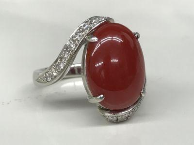 サンゴ(CORAL) 珊瑚 さんご 指輪 ダイヤモンド(DIAMOND) リング ジュエリー