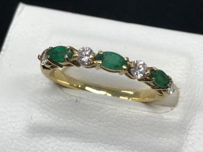 K18 エメラルド/ダイヤモンドリング買取 大阪難波で宝石売るならやっぱりMARUKA心斎橋店