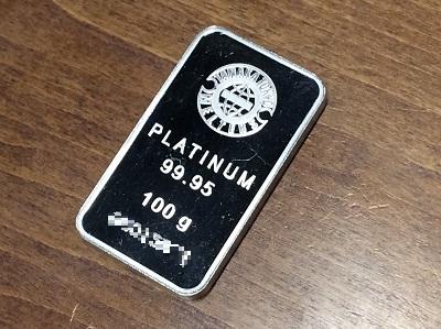 プラチナ買取 インゴット Pt1000 100.0g 99.95 貴金属買取 渋谷