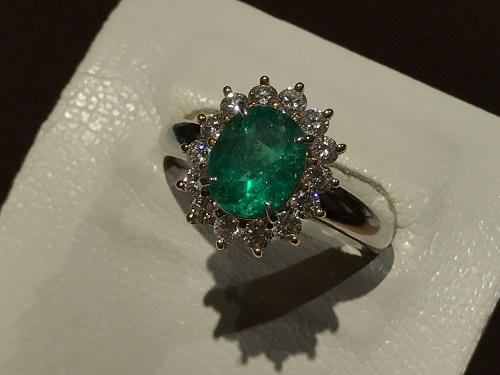 エメラルド 京都 買取 宝石 指輪 ダイヤモンド ジュエリー 宝飾品 四条 烏丸 御池 寺町 京極