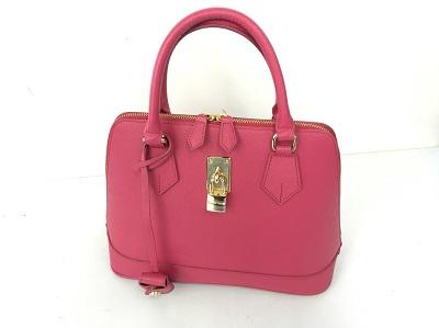サマンサタバサ 2WAYバッグ買取 ピンク レザー買取なら 三宮本通商店街 三宮中央通りのMARUKA