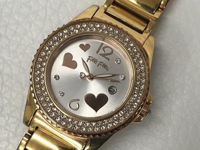フォリフォリ レディース 時計買取 ゴールド ジルコニア 止まっている買取なら 神戸 元町のMARUKA
