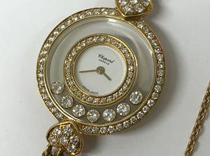 ショパール買取 レディース ハッピーダイヤモンド 純正ダイヤベゼル 750 銀座・渋谷・有楽町