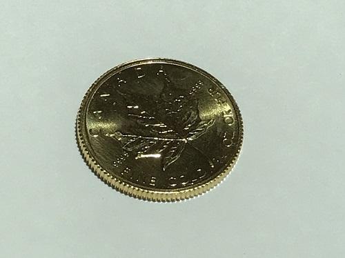 金貨買取 メイプルリーフ K24 純金 1/4OZ 7.7g 四条 買取