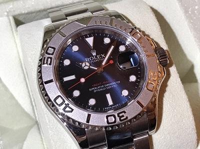ロレックス買取 ヨットマスター 116622 ランダム品番 ブルー文字盤 時計買取 渋谷