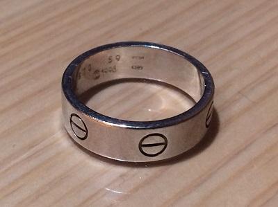 カルティエ買取 ラブリング 750WG 指輪 ジュエリー買取 渋谷 新宿 横浜