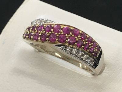 K18 ルビー/ダイヤモンド リング買取 宝石売るならお店選びから、MARUKA大阪心斎橋店