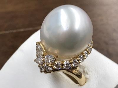 パール 17mm メレダイヤモンド 1.88ct ジュエリー買取 K18 金 宝石買取 吉祥院 西院 七条店