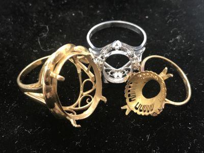 石の取れた指輪でも高価買取 金買取ならMARUKA大阪心斎橋店