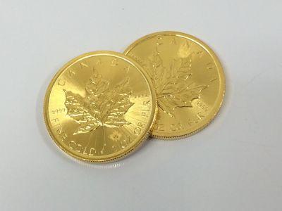 カナダ金貨 メープルリーフ 純金 K24 1OZ 金買取 コイン買取 京都 四条 河原町 マルイ