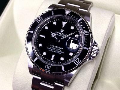 ロレックス買取 サブマリーナーデイト 16610LN ランダム品番 最終品番 希少 時計買取 渋谷