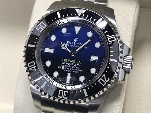 ロレックス買取 ディープシー Dブルー 116660 ランダム品番 美品 時計買取 渋谷