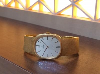オメガ買取 デヴィル レディースウォッチ 金無垢 750 手巻き時計 時計買取 渋谷