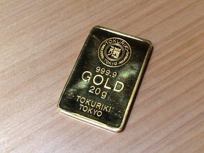 インゴット買取 金 純金 K24 20.0g 徳力 貴金属 ゴールド 金買取 渋谷 プラチナ