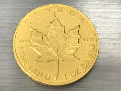 貴金属 金貨高額買取のマルカ! K24メイプルリーフコイン 純金買取 31.1グラム 1オンス 9999 京都で買取 金売るなら