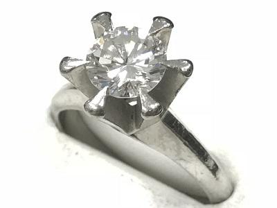 ダイヤ高額買取はマルカ! 宝石買取 ダイヤリング 1.0カラット SI1クラス ジュエリー 立爪 プラチナ 京都でダイヤ売るなら