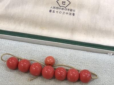 骨董買取 山珊瑚 ルース 8石 山珊瑚 買取も京都 MARUKA大宮店へ