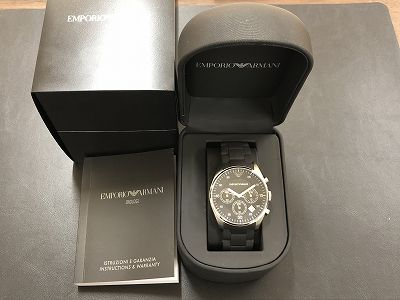 アルマーニ時計 メンズ時計レディース時計 止まっている時計でも買取マルカマルイ店