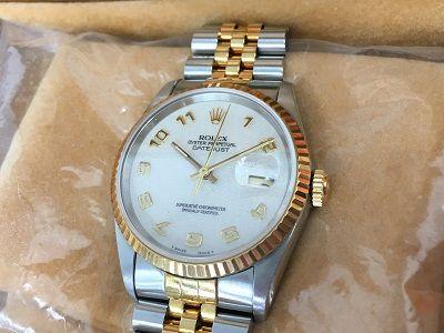 ロレックス買取 デイトジャスト 16233 古い時計一番高く売るならMARUKA大阪心斎橋店