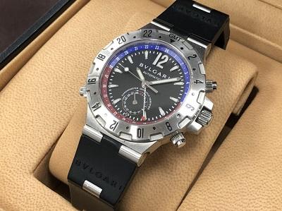 ブルガリ買取 時計買取 ディアゴノプロフェッショナルGMT GMT40S 京都 四条 河原町 市役所 祇園