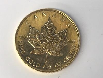 メープルリーフコイン1/2オンス 高価買取 純金 売却 京都 西大路七条