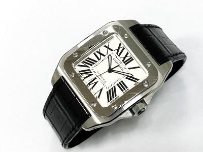 カルティエ買取 腕時計 サントス100 メンズウォッチ 京都 四条 祇園 河原町