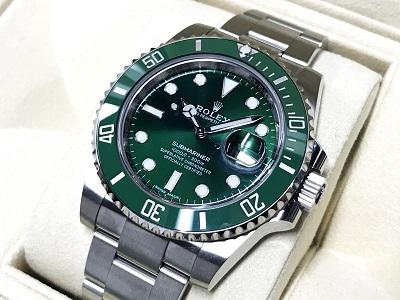 ロレックス買取 サブマリーナー 116610LV ランダム品番 グリーンサブ 時計買取 渋谷
