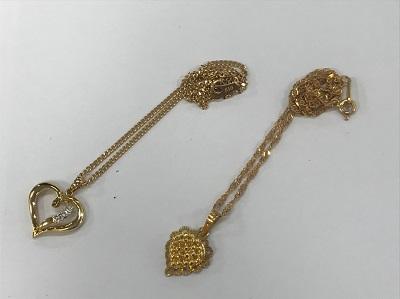 金買取り K18 ネックレス 7,4g K20 ネックレス 5,2g 金高く売るなら 京都 MARUKA大宮店へ