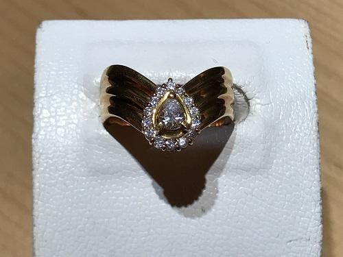 指輪 買取 ダイヤ 金 リング ペアシェイプ 四条 烏丸 御池 寺町 京極