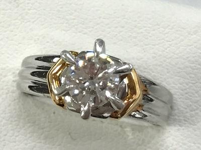 ダイヤ買取 PT900 K18 コンビ ダイヤモンドリング 0.638ct ダイヤモンド高く売るなら 京都 MARUKA大宮店へ